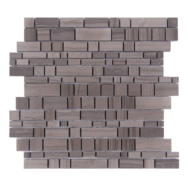Athens Gray Multi-Square Honed Mosaic