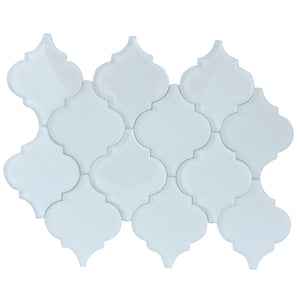 Arabesque Frosted Glass Mosaic