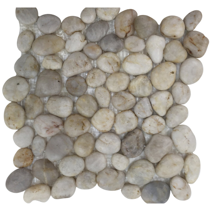 Silver Wheat Pebble Mosaic