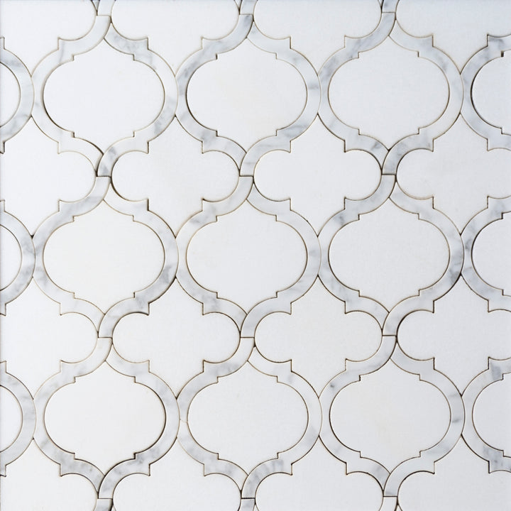 Marrakesh - Carrara White & Thassos White Waterjet
