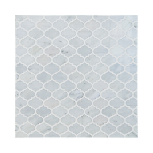 Mini Arabesque Carrara White Waterjet Mosaic