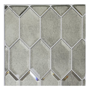 Beveled Stretched Hexagon Antique Mirror Mosaic