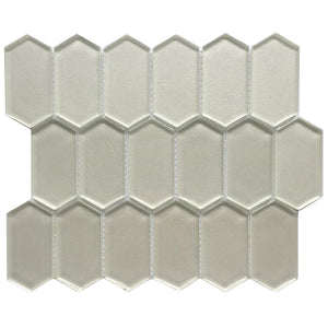 Stretched Hexagon Metallic Glass Mosaic
