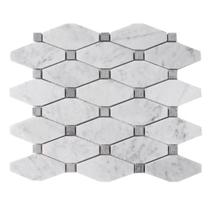 Carrara White Polished Octagon Mosaic