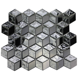 Silver Cubes Pattern Mosaic