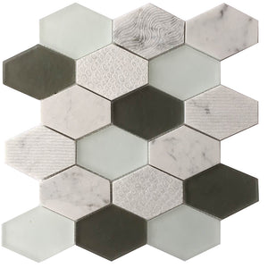 Anthracite Geo Hexagon 3x4 Sequin Pattern