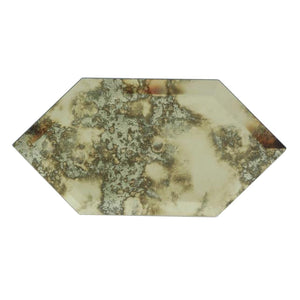 Stretched Hexagon Antique Mirror Mosaic
