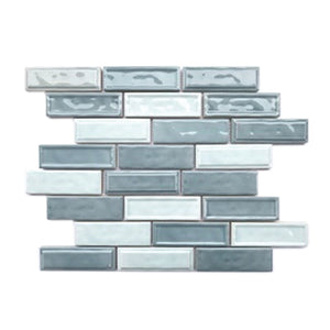 Ceramic Linear Two Toned Mosaic