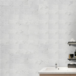 Calacatta Basketweave Polished Mosaic