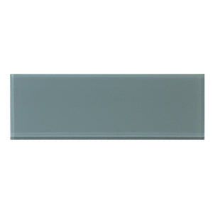 4x12 Azure Block Glass Tile