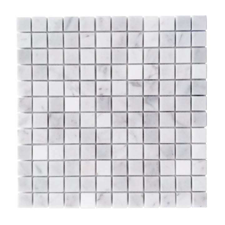 1x1 Carrara White Polished Marble Mosaic