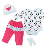 Reborn Baby Doll Clothes Outfit for 20-24 Inch Reborns Newborn Babies Matching Clothing Penguin Set