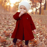 Girl's Windproof Warm Long Coat