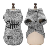 Emma Realistic Toys -Cute Cat Clothing Winter Pet Puppy Dog Clothes Hoodies-Emma Realistic Toys-Gray-XXL-Emma Realistic Toys