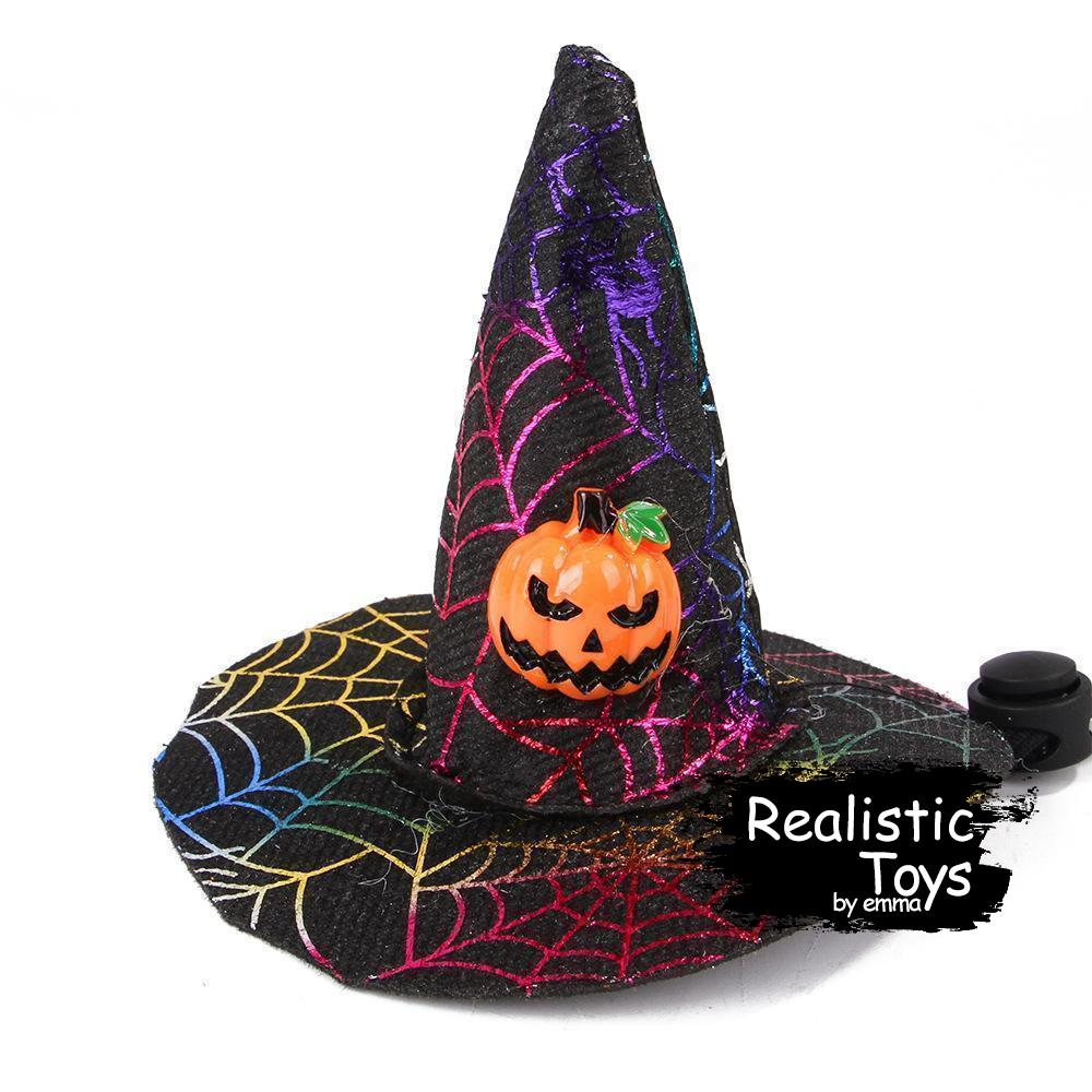 Emma Realistic Toys - Halloween Pet Witch Hat-Halloween Pet Decoration-Emma Realistic Toys-pumpkin-Emma Realistic Toys