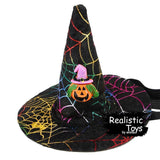 Emma Realistic Toys - Halloween Pet Witch Hat-Halloween Pet Decoration-Emma Realistic Toys-pumpkin hat-Emma Realistic Toys
