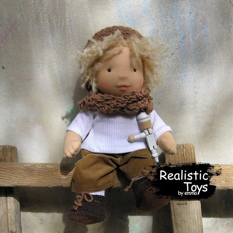 Emma Realistic Toys - Waldorf Doll Beatrice-Waldorf Doll-Realistic Toys By Emma-Emma Realistic Toys