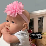 Little Adele With No Hair And Blue Eyes , Lifelike Real Baby Doll Reborn-Emma Realistic Toys-emma realistic toys