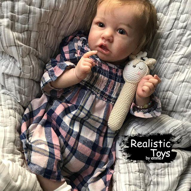 Little Anastasia Reborn Baby Doll Girl-Emma Realistic Toys-emma realistic toys