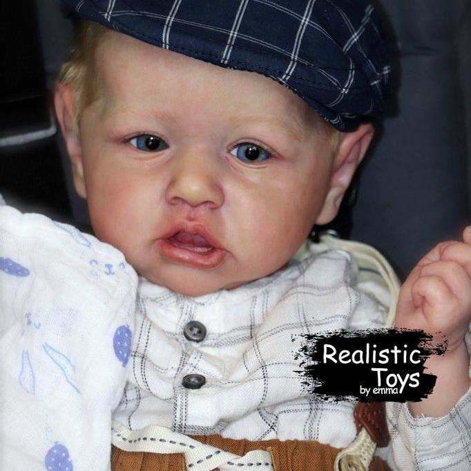 Little Emiliano Reborn Baby Doll Boy - Best Toy for Kid Gift-Emma Realistic Toys-emma realistic toys