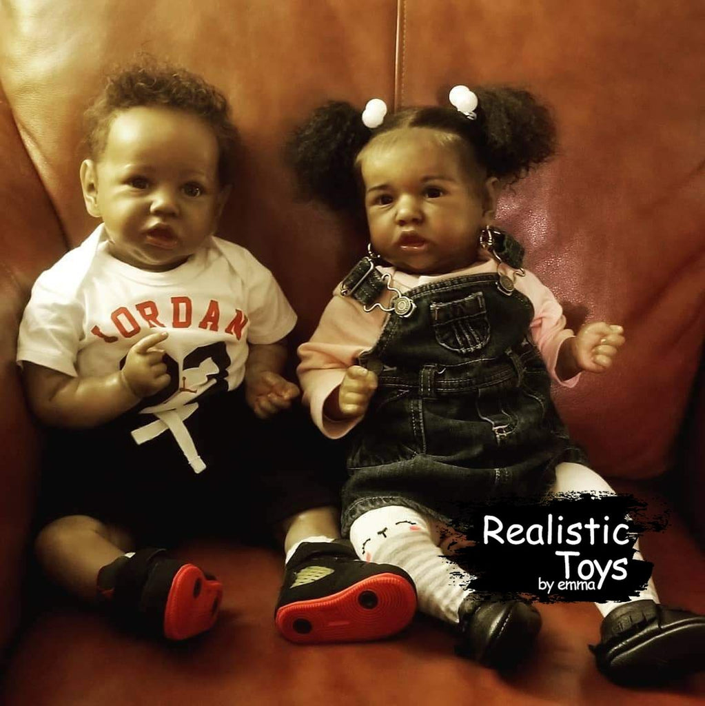 Twin Sister Irma and Barbara Handmade Reborn Baby Doll Girl-Emma Realistic Toys-emma realistic toys