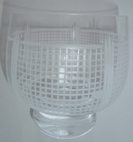 Tennis net bowl in English crystal