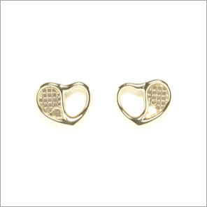 Tennis racquet stud earrings