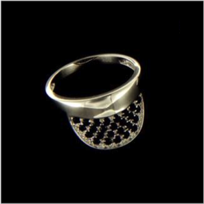 Tennis visor ring black