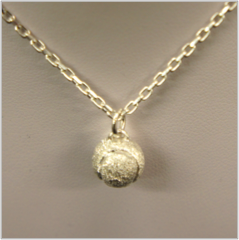 'Starbright' ball pendant in sterling silver, large