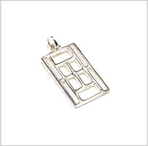Sterling silver tennis court charm