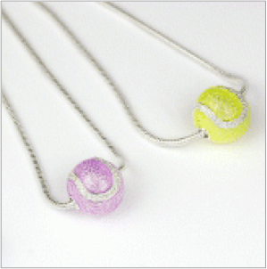 Sliding ball necklace in enamelled sterling silver, large