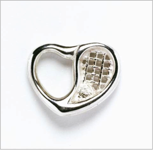 Love Tennis heart charm