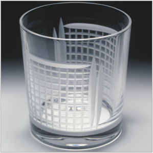 Tennis net tumblers in English crystal
