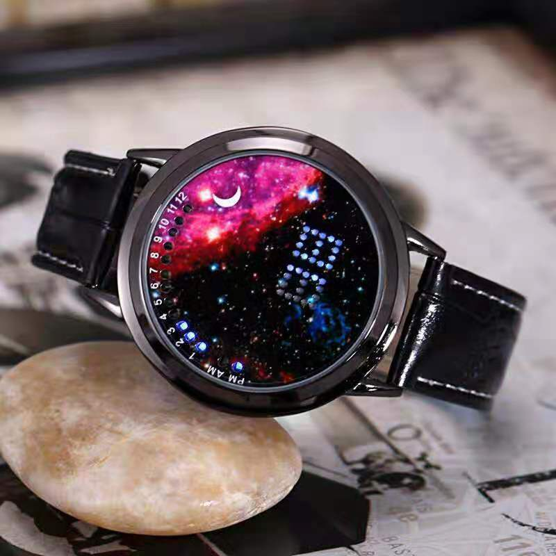2020 new starry sky no pointer LED watch