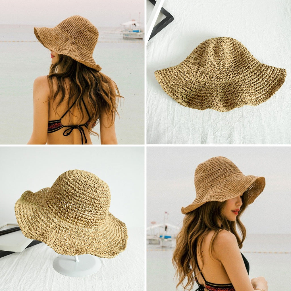 Hot summer floppy straw hat