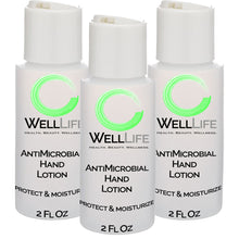 Load image into Gallery viewer, WELL LIFE Antimicrobial Hand Sanitizer Lotion Alcohol Free - 3 pack