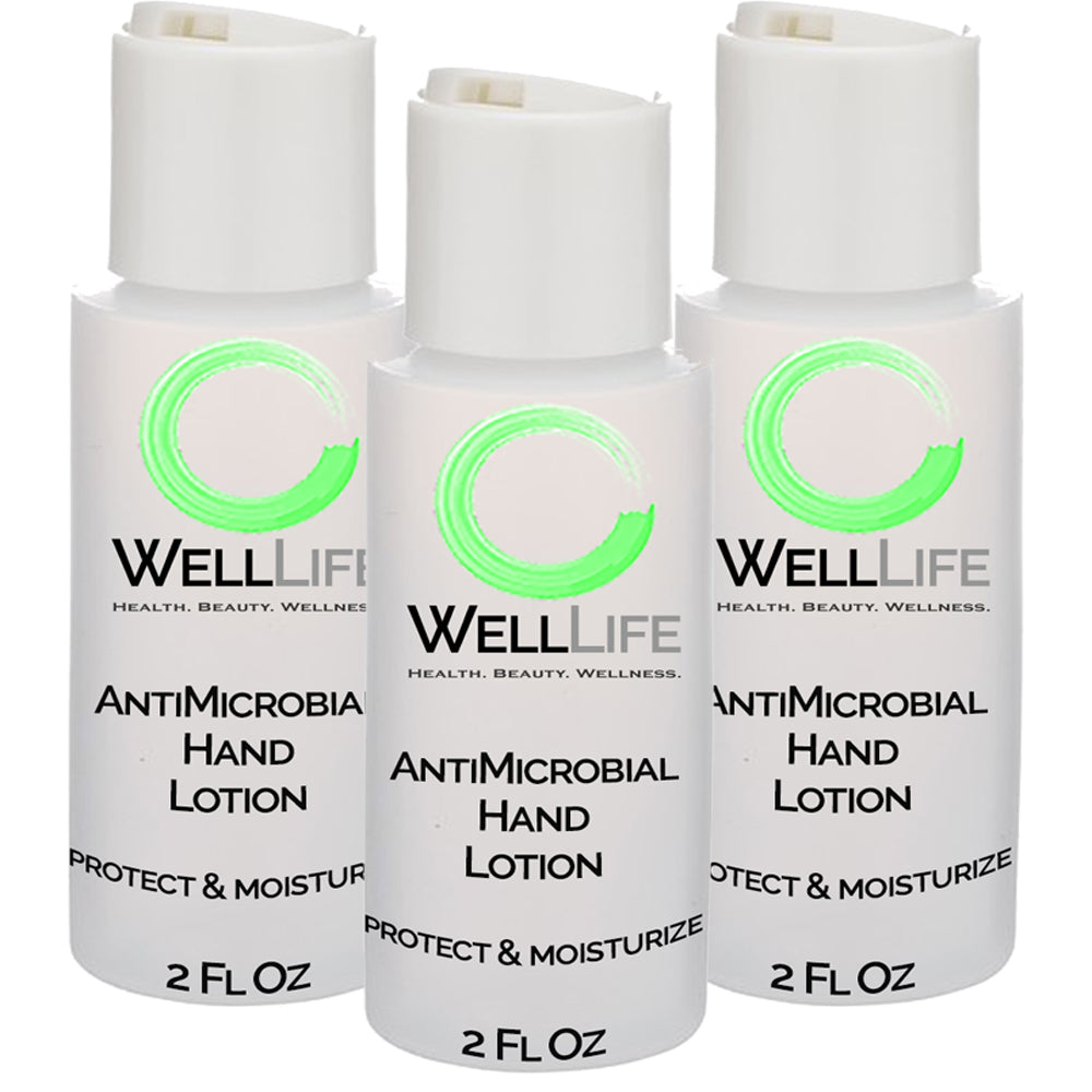 WELL LIFE Antimicrobial Hand Sanitizer Lotion Alcohol Free - 3 pack