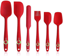 Load image into Gallery viewer, High Heat Resistant Silicone Spatula Set with Pastry Brush Solid Stainless Steel Core