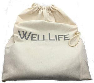 Well Life Plant Based Car Wash Kit with reusable, recyclable and sustainable items. Durable canvas tote bag.
