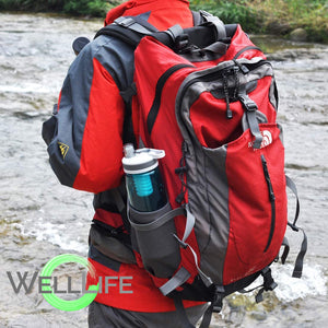 Well Life Filtered Water Bottle 26oz, 2 Stage Replaceable Filter