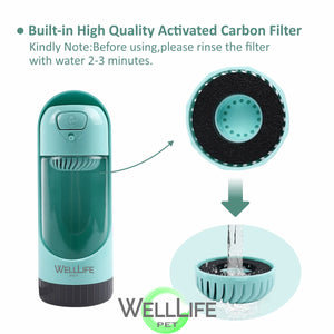 Replacement Filters for Well Life Pet Water Bottle - 4 filters