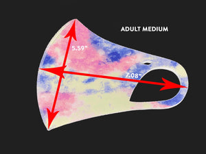 ADULT: HORIZON TIE-DYE Mask-1F (pack of 5)