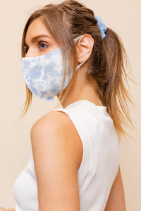ADULT: BLUE TIE-DYE Mask-1B (pack of 5)