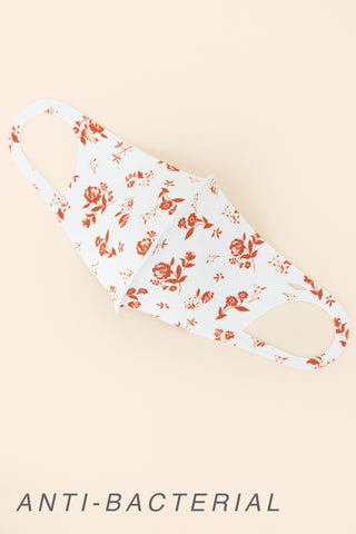 ADULT ONE SIZE: RUSTIC FLORAL PRINT - MASK-1033 (pack of 5)