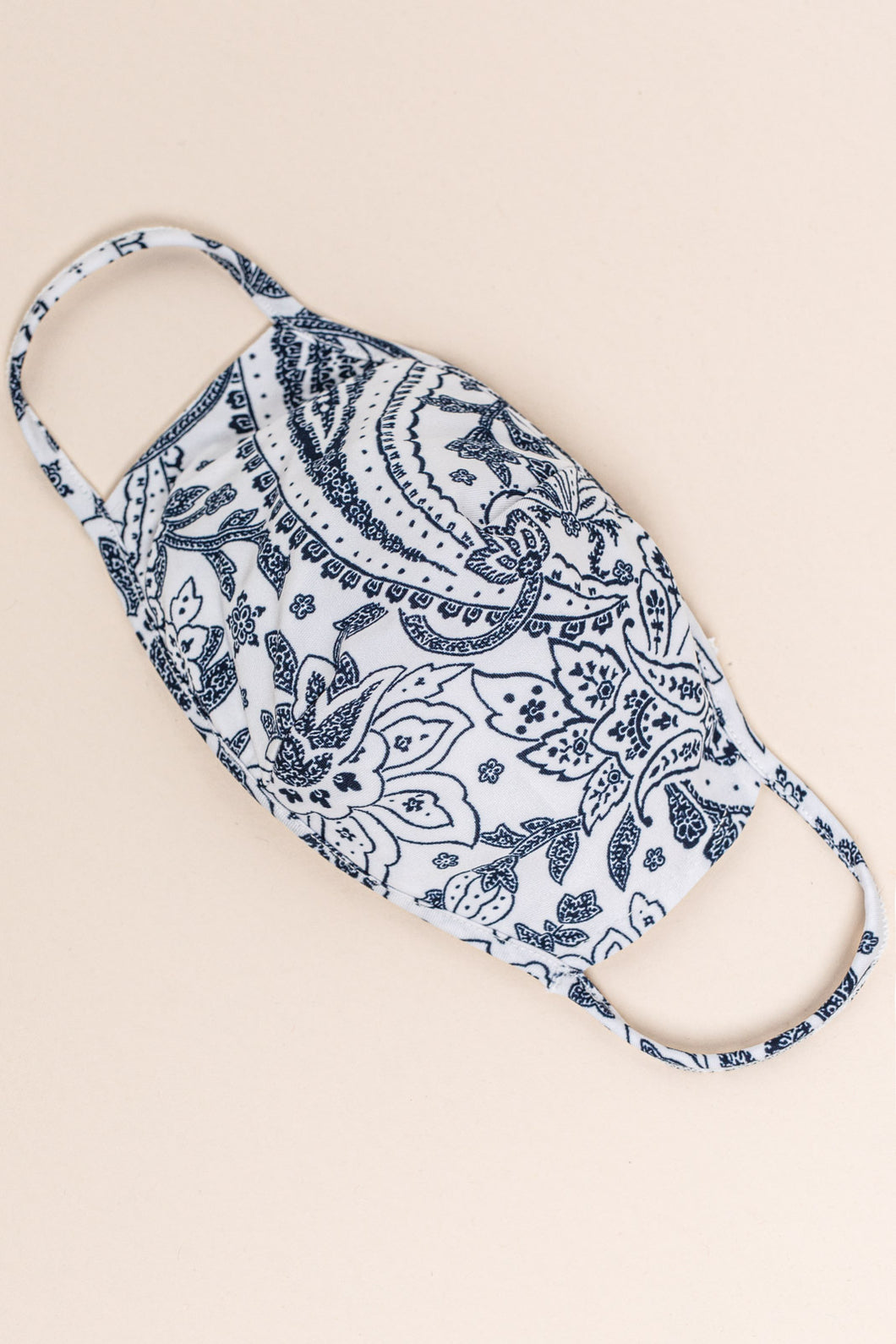 Essentials:  White/Blue Paisley MASK-CP2 (pack of 6)