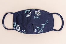Load image into Gallery viewer, Essentials:  Navy Floral MASK-CP3 (pack of 6)