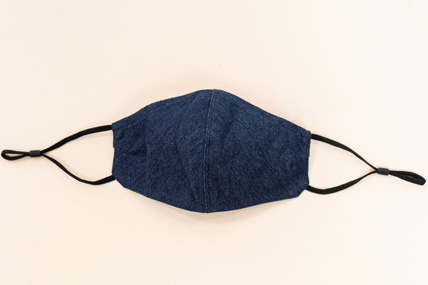ADULT ONE SIZE: DENIM BLUE CLOTH - MASK-I1-DB (pack of 5)
