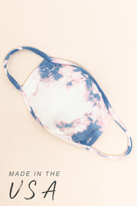 Essentials: Ivory/Blue Tie-Dye Mask - MASK-10 (pack of 6)