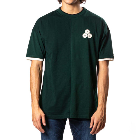 T-Shirt Liso, Verde Oscuro
