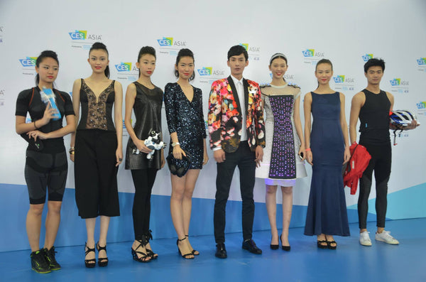 Hexoskin smart shirt at the FashionWare event at CES Asia 2016 in Shanghai, China.